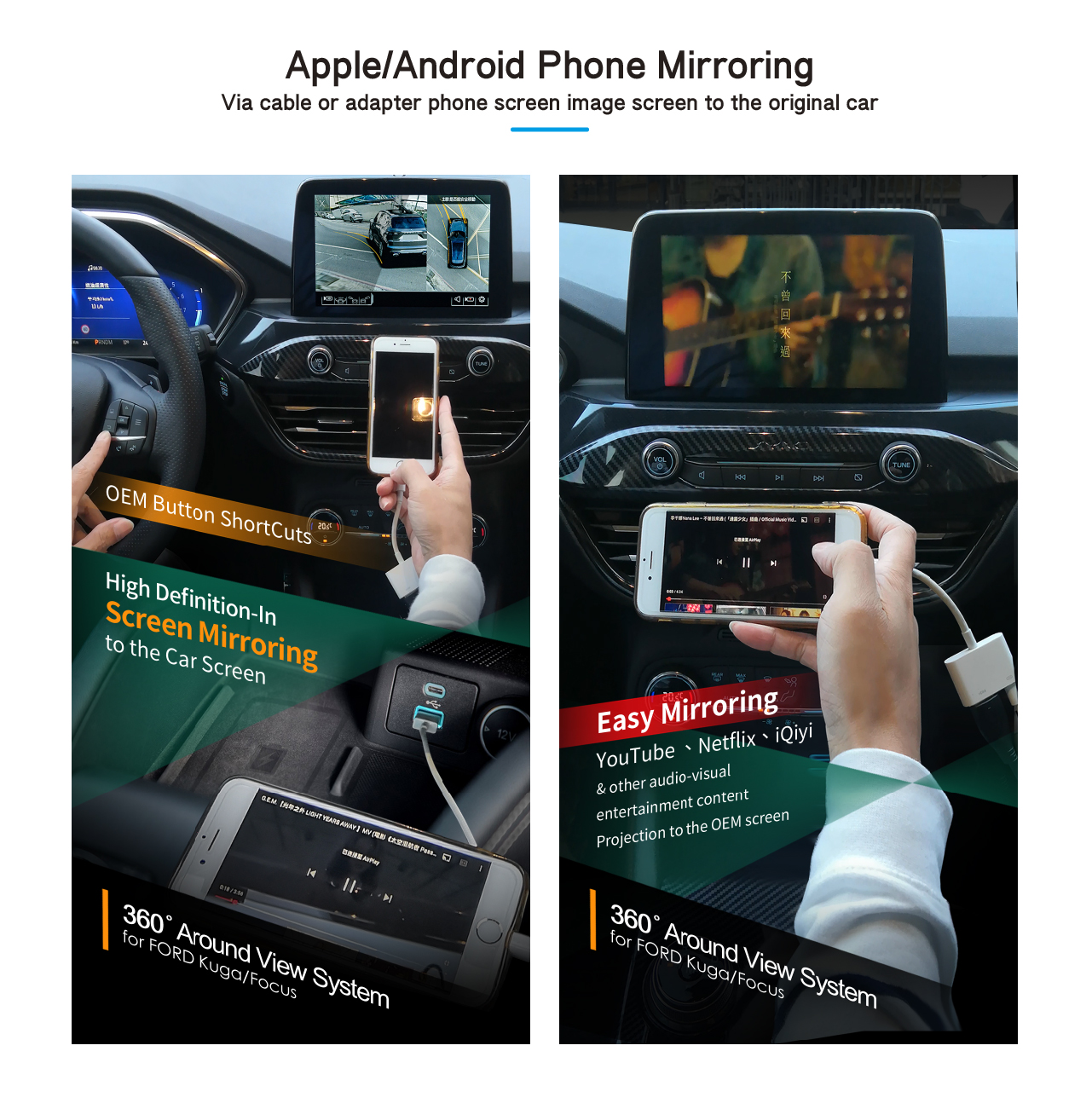 Apple/Android Phone Mirroring
